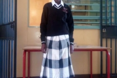 Teresia (The athlete) first day in secondary school Oloyiankalani. January 2017.